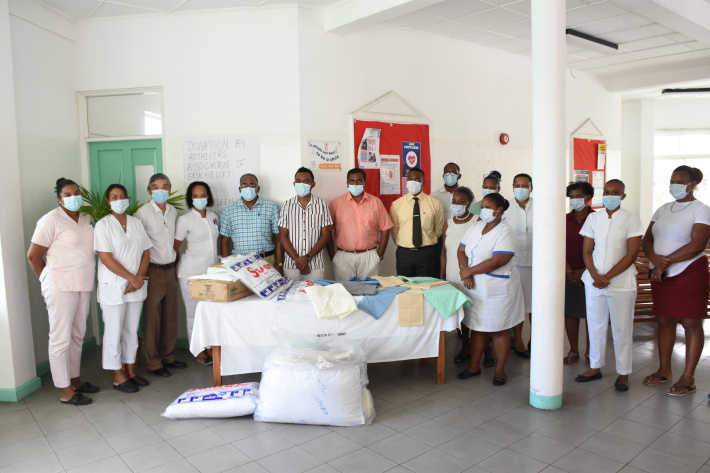 Retailers' association, KAEL Imports donate essential items to English River health centre -Seychelles Nation